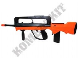 M46A Famas Style Combat Rifle Airsoft BB Gun Black and Orange